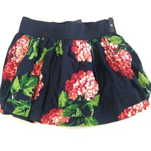 Abercrombie Girls  XL Navy Floral Skirt Elastic